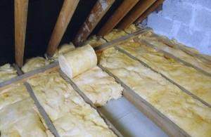 Утепление минеральной ватой потолка снаружи