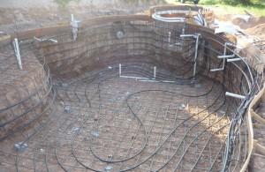Установка геотермального отопления
